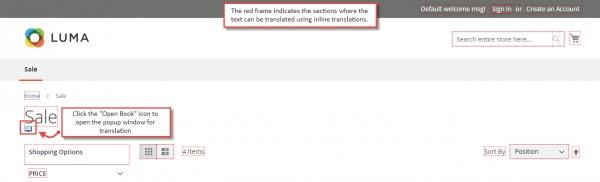 Пример редактирования перевода в клиентской части